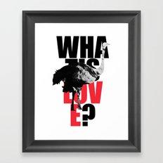 WIL? Ostrich Framed Art Print