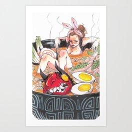 ♡ and Ramen Kunstdrucke