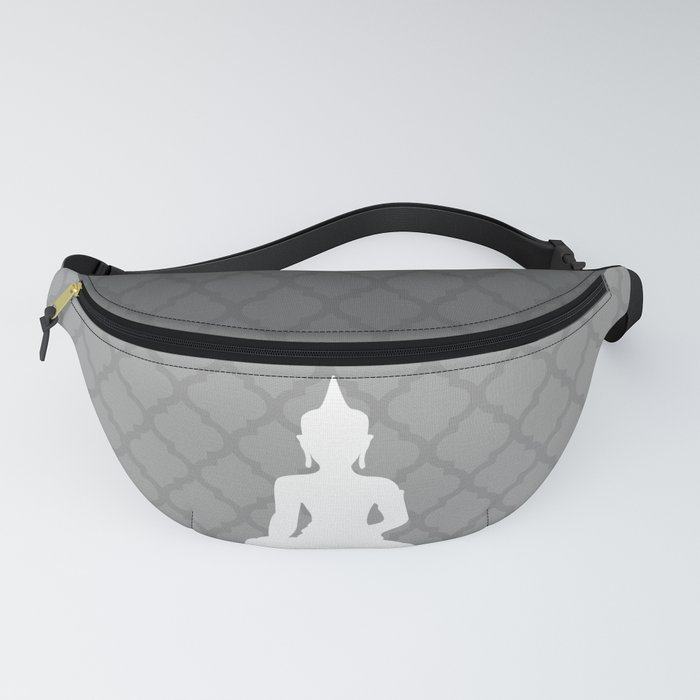 Grey and White Buddha Fanny Pack