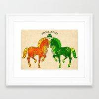 ireland Framed Art Prints featuring Ireland by StudioBlueRoom