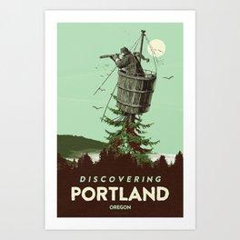 DISCOVERING PORTLAND Art Print