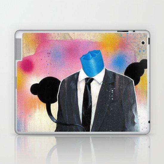 Plasticine man in a suit. Laptop & iPad Skin