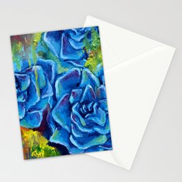 Colorful succulents Stationery Cards