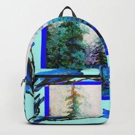 BLUE BUTTERFLIES BLUE BIRDS BLUE FOREST ART Backpack