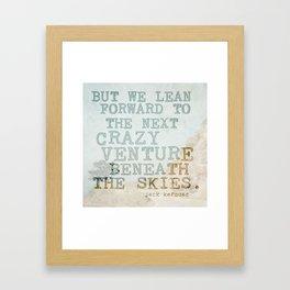 The Next Crazy Venture Framed Art Print