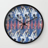 rocket Wall Clocks featuring Rocket by AnnaW