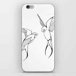 Lovebirds-Swallows iPhone Skin