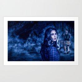 Charumati - the Purple-Eyed Werewolf Art Print