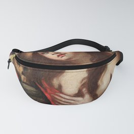 woman with skull Fanny Pack