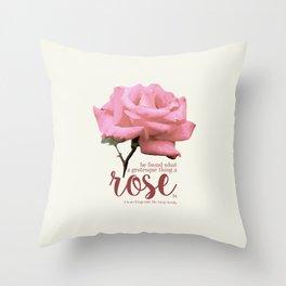 Grotesque Rose Throw Pillow