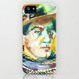 FRITZ LANG - watercolor portrait.2 iPhone Case