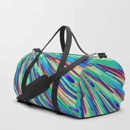 Peacock feather abstraction Duffle Bag