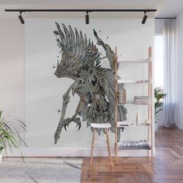 Heavy Metal Skeleton Eagle. Wall Mural