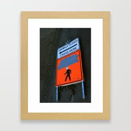 Monster Crossing Framed Art Print