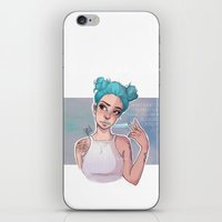 laia iPhone & iPod Skins featuring electric blue by Laia™