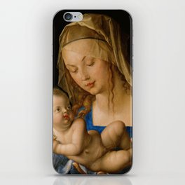 Virgin with the Pear by Albrecht Durer iPhone Skin