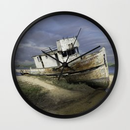 Ship Wreck Wall Clock