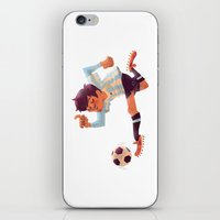 argentina iPhone & iPod Skins featuring Lionel Messi, Argentina Jersey by Mike Laughead