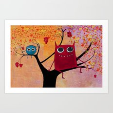 happy monsters  Art Print