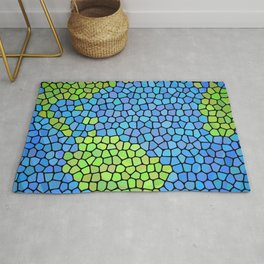 Planet Earth (Stained Glass) Rug