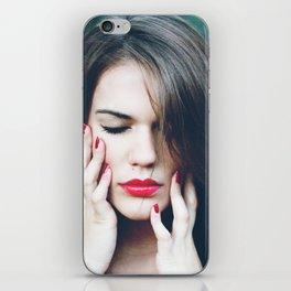 red girl iPhone Skin