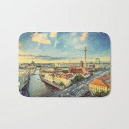 Berlin Skyline Bath Mat