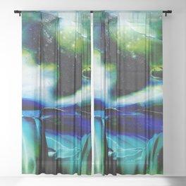 Waterfall II Sheer Curtain