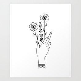 Middle Finger Art Print