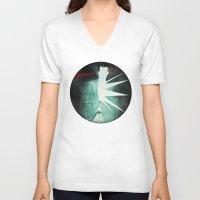 suit V-neck T-shirts featuring light suit by Vin Zzep