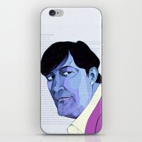 stephen king iPhone & iPod Skins featuring Stephen Fry by Mirco