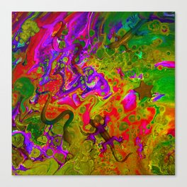 Rainbow Snakes Canvas Print
