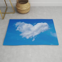 #Love is in the #Air a #cloud is #heart Rug