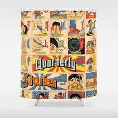 Odd Alphabet Chart Shower Curtain