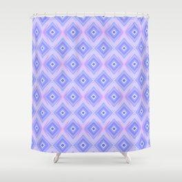 Triple Blue Square Shower Curtain