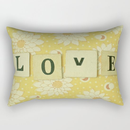 Love No.4 Rectangular Pillow