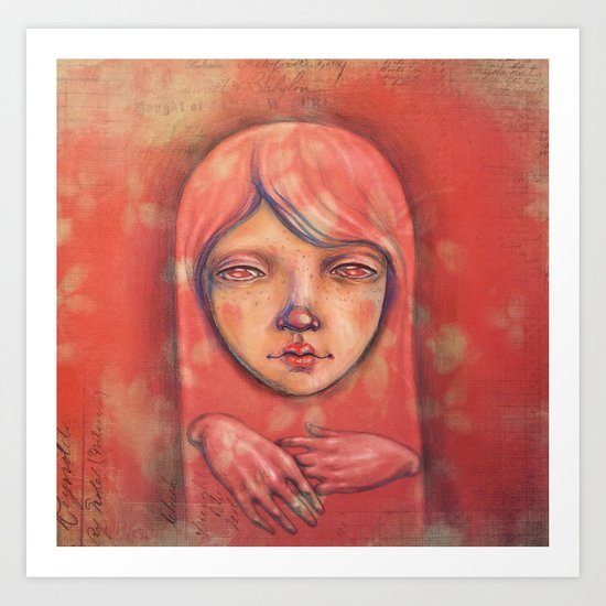 The Ghost in Pink Art Print