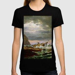 Johan Christian Dahl Shipwreck on Coast Norway T-shirt