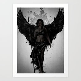 Dark Valkyrja Art Print