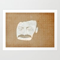 bon iver Art Prints featuring Bon Iver by Strong Odors