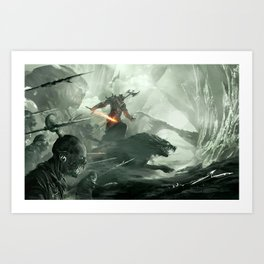 Warbeasts - CREATURES OF THE NORTH Art Print