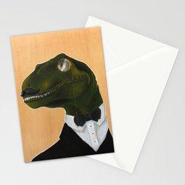 Dapper Velociraptor Stationery Cards