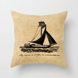 Divine Comedy - Dante Alighieri - Uncharted Sea Throw Pillow
