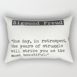 Sigmund Freud quote Rectangular Pillow