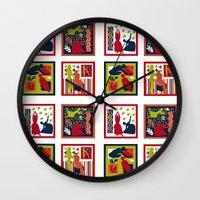 matisse Wall Clocks featuring Matisse Full Design by Marilyn Petersen