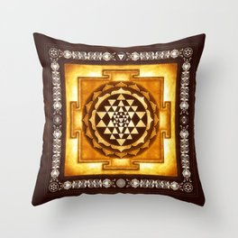 Sri Yantra IV.IV Throw Pillow