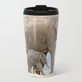 Elephant with Baby Travel Mug
