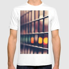 Circles and squares White MEDIUM Mens Fitted Tee