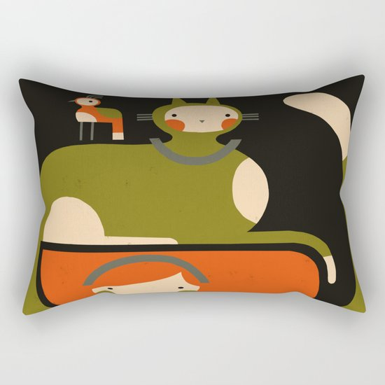 TAIL HUG Rectangular Pillow