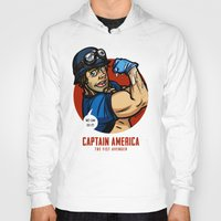 steve rogers Hoodies featuring Steve Rogers, The Fist Avenger by Randy Meeks