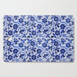 Azulejos blue floral pattern Cutting Board